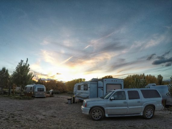 Sunset at RV Park in Escalante, Utah